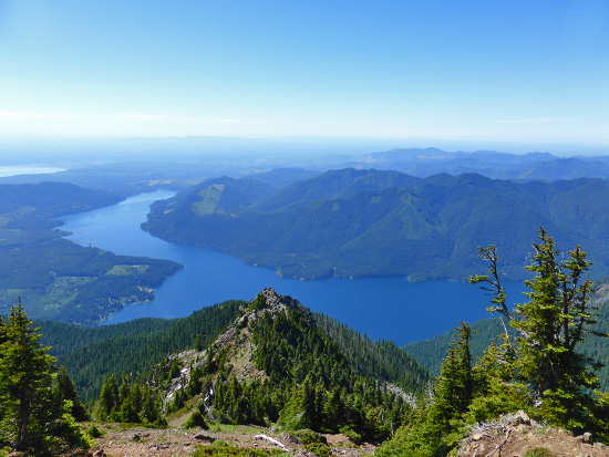 View of Lake Cushman from the Mount Ellinor Trail