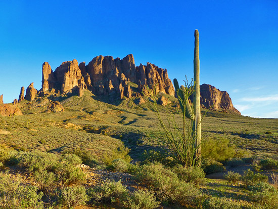 Superstition Mountain from Jacob's Crosscut Trail